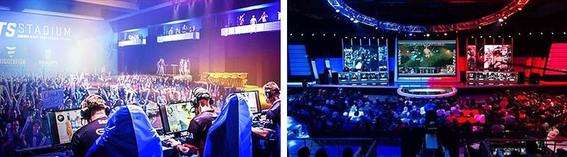 大会場で開催されることも多いeスポーツ
