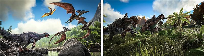 サバイバル要素とクラフト要素がある『ARK: Survival Evolved』