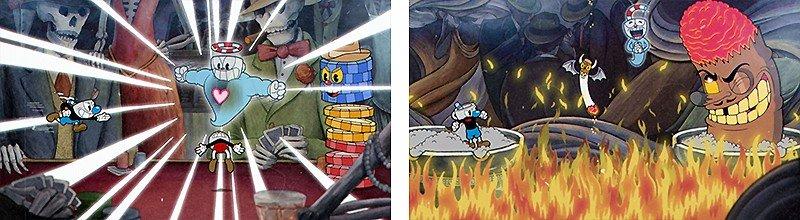 古いアニメ風グラフィックが魅力の『Cuphead』