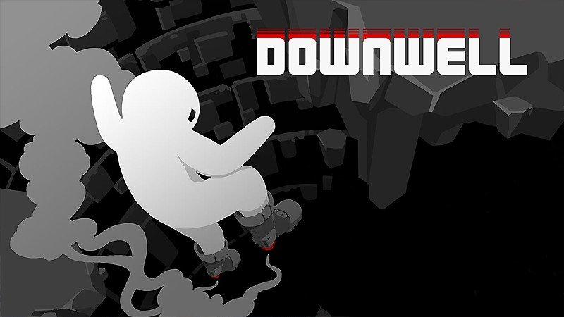 下にスクロールするアクションシューティング『Downwell』