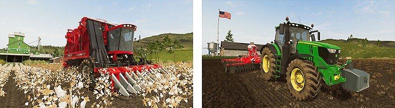 実在する農機が多数登場する『ファーミングシミュレーター20』