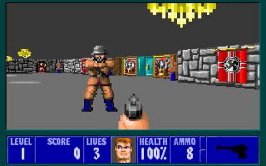 FPSというジャンルを確立した『wolfenstein 3D』の画像